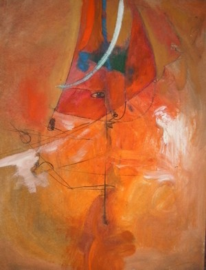 Mario Ortiz Martinez Artwork THE LAMP, 2008 Oil Painting, Abstract Figurative