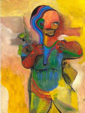 Mario Ortiz Martinez Artwork THE MIDGET, 2008 Oil Painting, Abstract Figurative