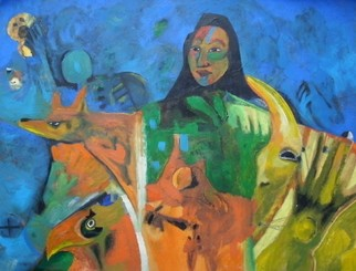 Mario Ortiz Martinez Artwork THE OTHER CULTURE, 2009 Oil Painting, Abstract Figurative