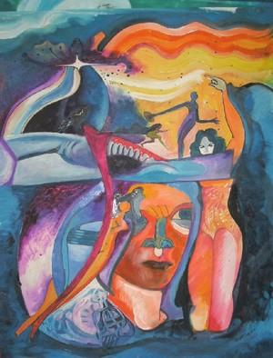 Mario Ortiz Martinez Artwork THIRD SIMPHONIA, 2008 Oil Painting, Abstract Figurative