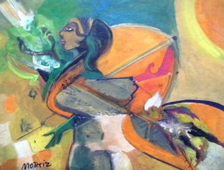 Mario Ortiz Martinez Artwork WOMAN OF THE ISLANDS, 2009 Oil Painting, Abstract Figurative