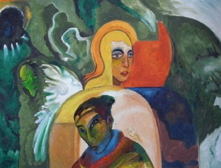 Mario Ortiz Martinez Artwork WOMEN, 2008 Oil Painting, Abstract Figurative