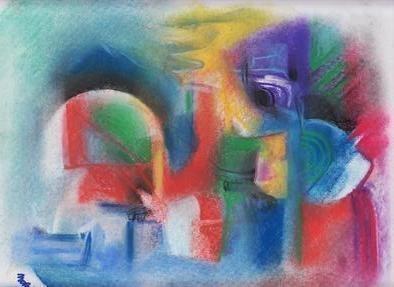 Mario Ortiz Martinez: 'abstract xxi', 2019 Pastel, Abstract Figurative. Artist Description: A SERIES OF PASTELS.  TRYING TO DEPICT ALL OF MY UNIVERSE OF VISION, EMOTIONS, IMAGES RECORDED, SUDDEN INSPIRATION, ALL MY POWER OF INTENTION TO COMMUNICATE WITH THE PEOPLE.  ALMOST ALL OF THEM MARKED WITH THE MINIMUM PRICE PERMITTED BY THE SITE.  FREE SHIPPING VIA USPS. ...