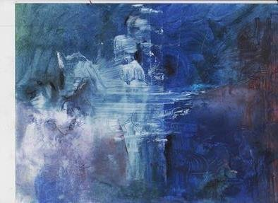 Mario Ortiz Martinez: 'exercise in blue', 2019 Oil Painting, Abstract Figurative. FREE INSPIRATON EXERCISE IN BLUE.  ABSTRACT, MISTERY, LIBERTY. ...