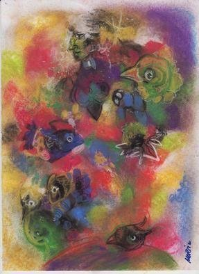 Mario Ortiz Martinez: 'festive arrangement', 2019 Pastel, Abstract Figurative. Artist Description: ALL KIND OF ELEMENTS DECORATING THIS SUGGESTIVE PAGE OF ART. COLORFUL PASTEL ON PAPER. THE FEAST OF IMAGINATION, PURE PLEASURE TO MANIPULATE THIS EXPRESSIVE MEDIA.  A RICH COLLECTION SUITABLE TO DECORATE THAT SPECIAL SPACE OF YOUR ROOM. ...