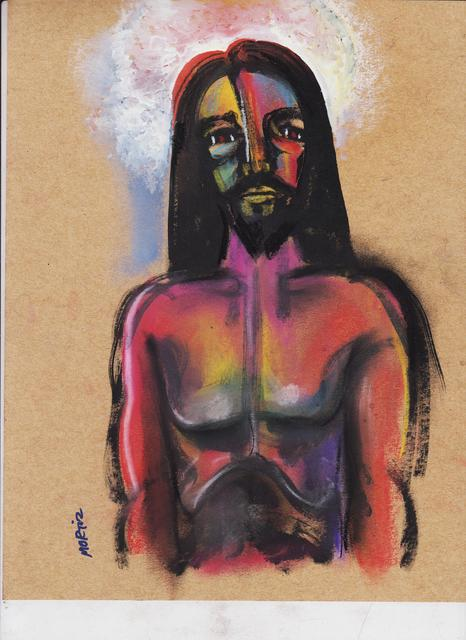 Mario Ortiz Martinez  'Jesus A Study', created in 2019, Original Painting Ink.