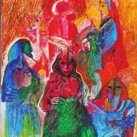 Mario Ortiz Martinez Artwork red scene, 2019