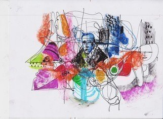Modern Urban Abstract Collage Art