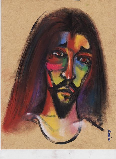 Mario Ortiz Martinez  'Young Jesus', created in 2019, Original Painting Ink.