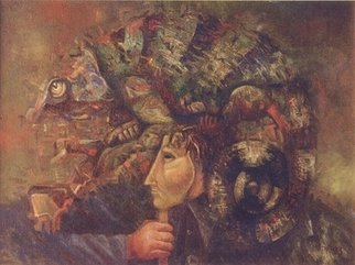 Mark Makarov Artwork Chameleon, 1995 Oil Painting, Zeitgeist
