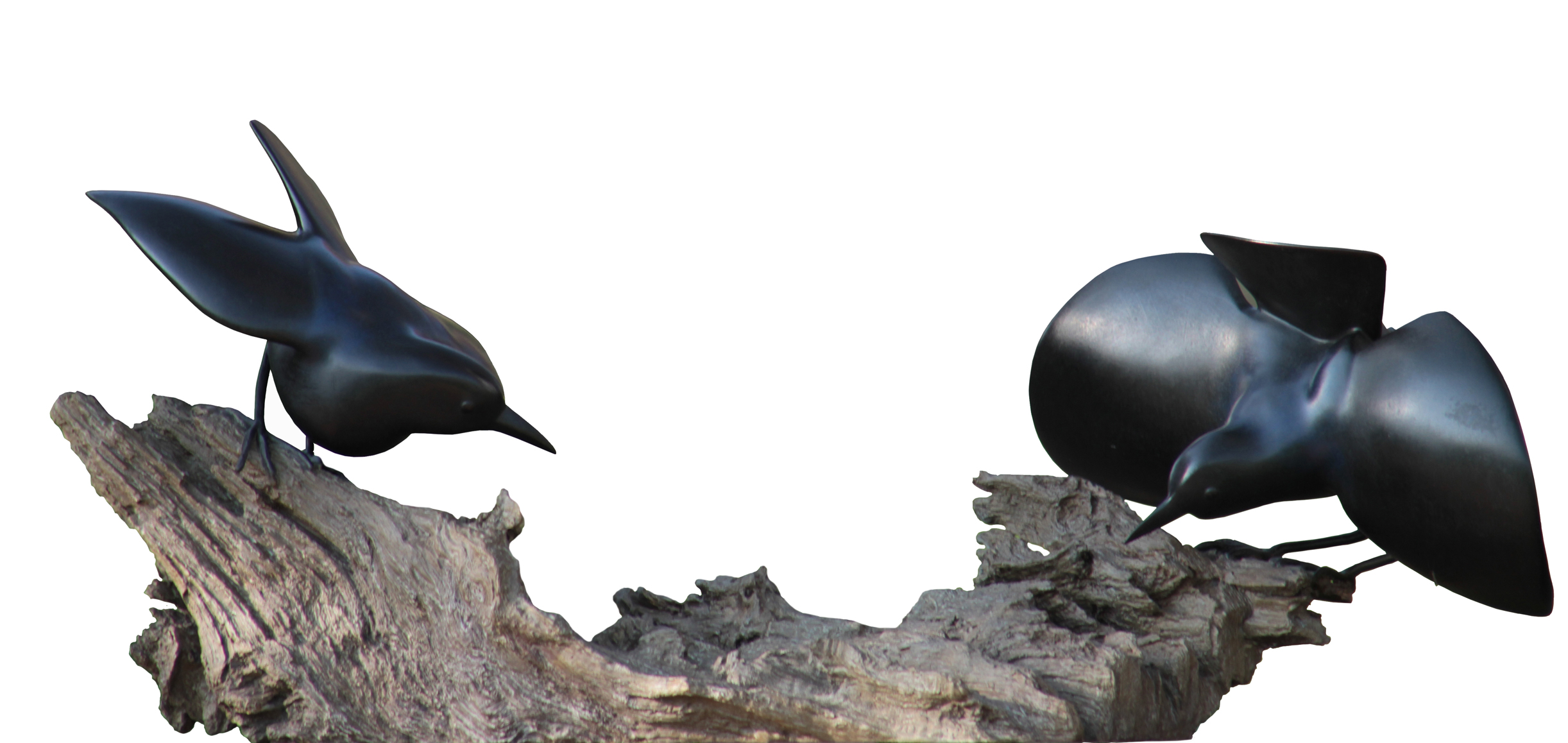 Mark Dedrie: 'Home', 2011 Bronze Sculpture, Birds.