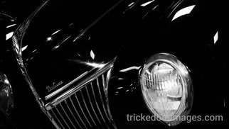 Mark Charles Fox: 'Deluxe', 2017 Black and White Photograph, Automotive. Artist Description: Printed on Platinum paper stock. Luster or Matte available on request. Other sizes available on request. trickedoutimages. com...