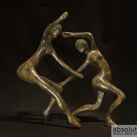 Mark Yale Harris Artwork Dance Me to the End of Love, 2012 Bronze Sculpture, Figurative