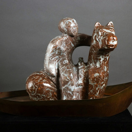 Mark Yale Harris: 'Me Upon My Pony on My Boat', 2006 Mixed Media Sculpture, Abstract Figurative.