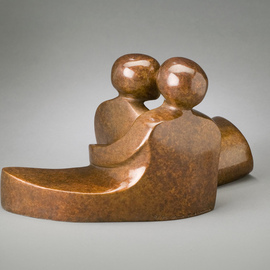 Mark Yale Harris: 'The Way We Are', 2008 Bronze Sculpture, Abstract Figurative.