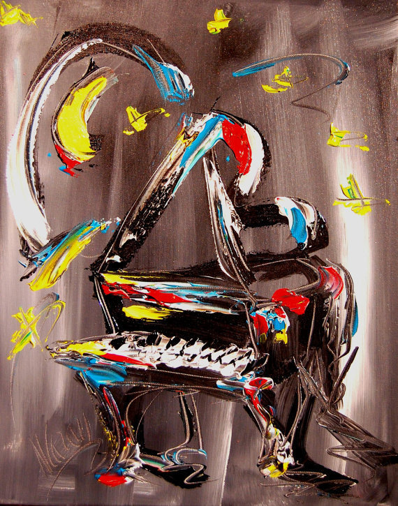 Mark Kazav JAZZ_PIANO_MODERN_ABSTRACT_ORIGINAL_OIL_PAINTING_BY_KAZAV-1416011003l