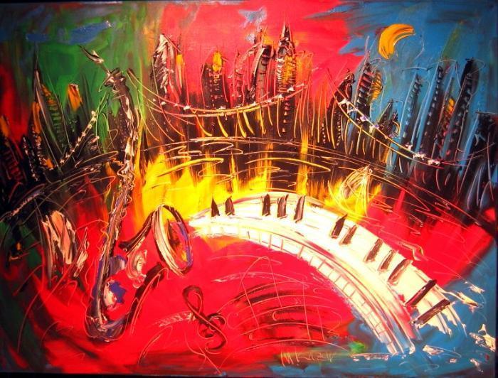 Mark Kazav IPAINT_JAZZ__original_oil_painting_MODERN__PAINTING_SIGNED_BY_KAZAV-1353175564l