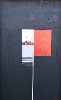 Geometric Mixed Media by Mark Mazurczyk titled: No  2 6, created in 2011