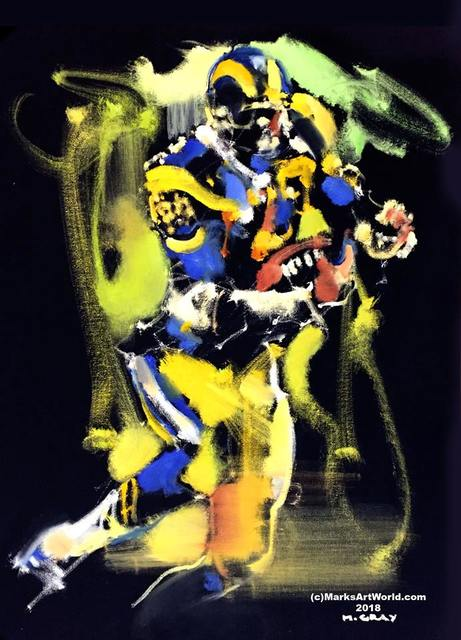 Mark Gray  'Eric Dickerson By Mark Gray', created in 2018, Original Painting Oil.