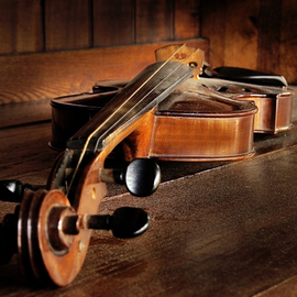 Mark Vaintroub: 'old violin', 2013 Color Photograph, Music. Artist Description: The pictures was taken at the old antique shop in a small Canadian town. ...