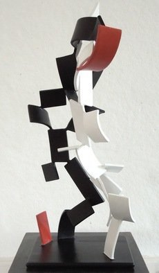 Mark Wholey: 'Red Ascending', 2012 Steel Sculpture, Abstract. Artist Description:    painted 1/ 4