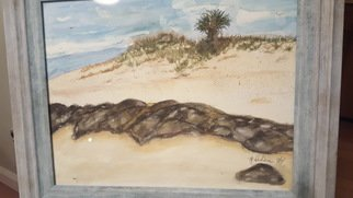 Marla Dusharm Artwork Hilton Head Beach, 2014 Watercolor, Beach