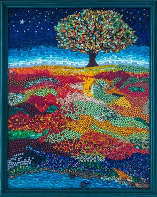 Mosaic by Marlies Wandres titled: Dreaming Tree, created in 2014