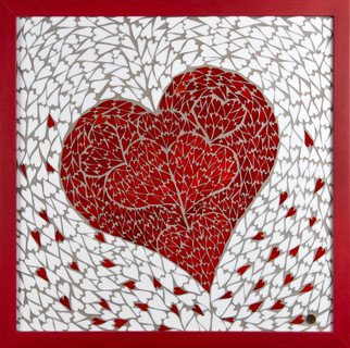 Mosaic by Marlies Wandres titled: Hearts, created in 2013