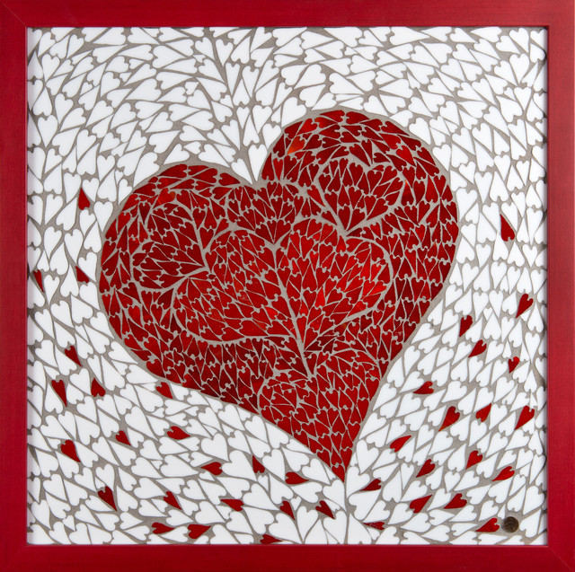 Marlies Wandres  'Hearts', created in 2013, Original Mosaic.