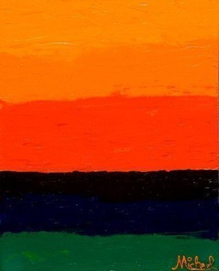Michael Arnold: 'Sunset original signed acrylic painting on canvas ', 2008 Acrylic Painting, Abstract. 2008 Acrylic on canvas 24 x3 0 Sunset is an original, signed acrylic painting on a gallery- wrapped canvas by artist Michael Arnold. I love the vivid colors created when the sun sets. ...