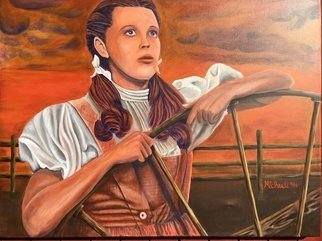 Michael Arnold: 'dorothy', 2016 Acrylic Painting, Movies.  Dorothy  is an original, signed acrylic painting on canvas by Citrus County Florida artist Michael Arnold. This acrylic 4- foot- by- 3- foot painting is a closeup view of Dorothy from the Wizard of Oz. I originally had it more like a sepia toned photo but decided midway through to...
