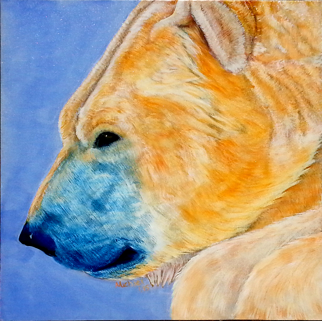 Michael Arnold  'Polar Bear', created in 2015, Original Painting Acrylic.