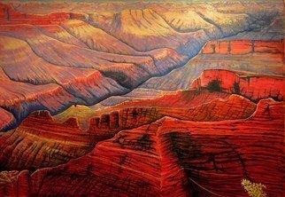 Mario Tello: 'GRAND CANYON', 2016 Oil Painting, Landscape. Artist Description: OIL painting on canvas ...