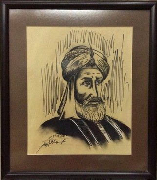 Asmaa Azhar Artwork Abbasid Caliph Harun alRashid , 2010 Charcoal Drawing, Famous People