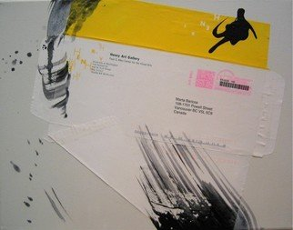 Marta Baricsa Artwork Envelope paintings  Henry Art, 2006 Collage, Abstract