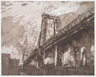 Martha Hayden Artwork The Williamsburg Bridge, 2010 Intaglio - Open Edition, Abstract Landscape