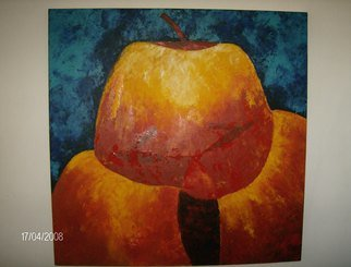 Martha Mafiol: 'Manzanas III', 2008 Acrylic Painting, Abstract Figurative.