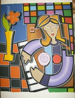 Martha Mafiol Artwork PIANISTA, 2008 Acrylic Painting, Music