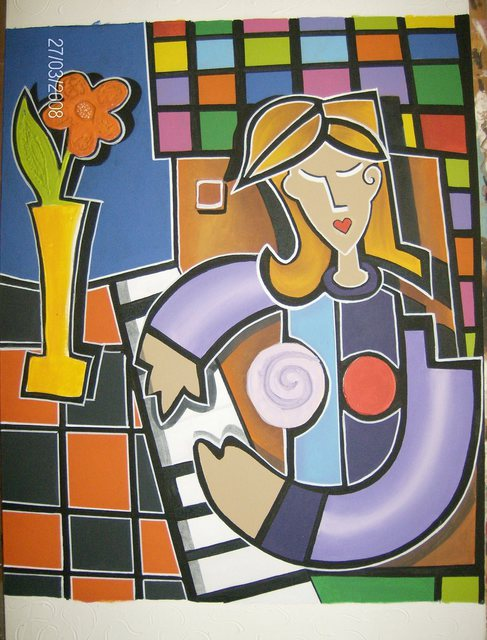Martha Mafiol  'PIANISTA', created in 2008, Original Painting Acrylic.