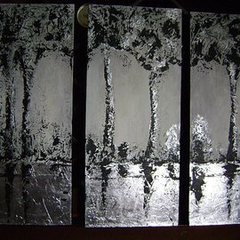 Martha Mafiol Artwork Silver landscape II, 2007 Mixed Media, Abstract Landscape