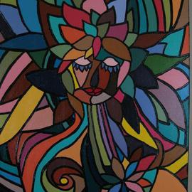 Martha Ramirez Artwork Blossoming Promises, 2008 Acrylic Painting, Abstract Figurative