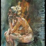 seated figure and palimpsest By Martin Beck