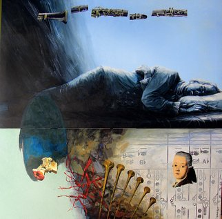 Artist: Martinho Dias - Title: Lo Strumento della Creazione, Written Painting by Gianluigi Trovesi - Medium: Acrylic Painting - Year: 2005