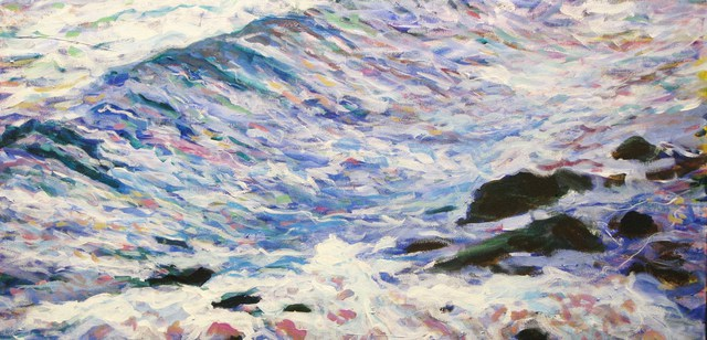 Marty Kalb  'Antigua Waves  5', created in 2011, Original Painting Oil.