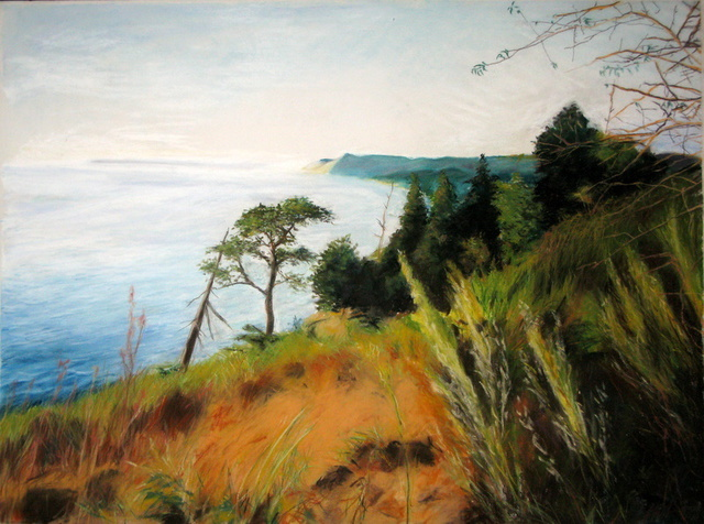 Marty Kalb  'Empire Bluff', created in 2000, Original Painting Oil.