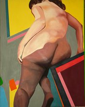 - artwork Figure_Leaning_Right-1276370220.jpg - 1975, Painting Acrylic, Figurative