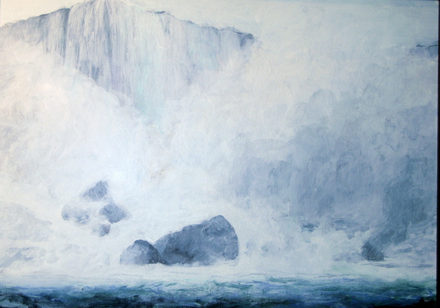 Marty Kalb  'Niagara Falls 2 Rocks And Mists', created in 2007, Original Painting Oil.