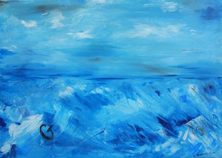 Elena Martynova Artwork storm at sea, 2016 Oil Painting, Expressionism