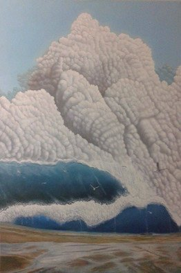 Marwan Gamal Artwork the big cloud, 2014 Oil Painting, Seascape