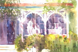 Artist: Maryann Burton - Title: Porch in Cape May - Medium: Watercolor - Year: 2009